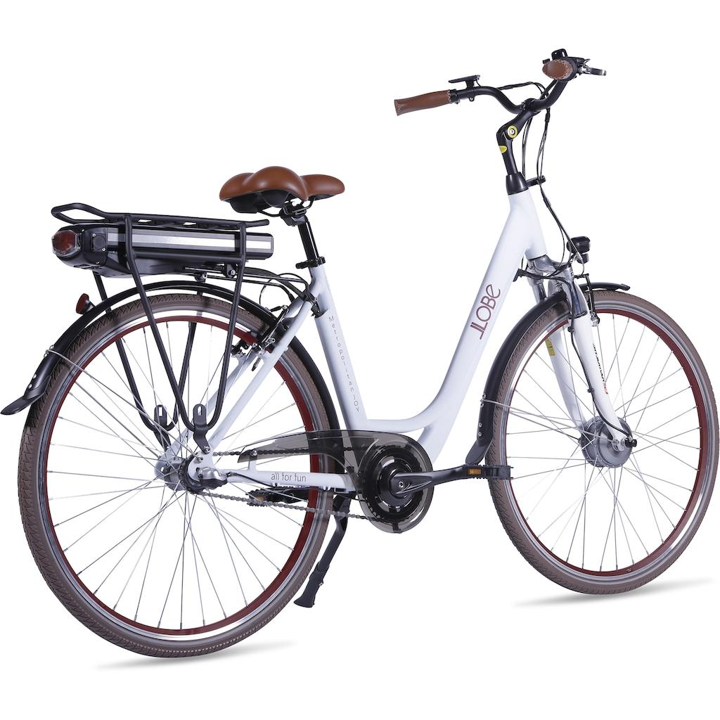 LLobe E-Bike »Metropolitan JOY modernwhite 8Ah«, 3 Gang, Frontmotor 250 W