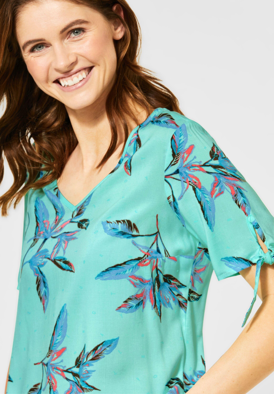 cecil schlupfbluse Bluse mit Blättermuster AKLBB1159673506