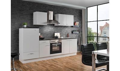 Menke Küchen Küchenzeile »White Classic«, Küchenzeile mit E-Geräten, Breite 270 cm kaufen