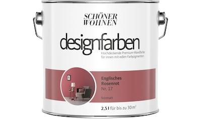 SCHÖNER WOHNEN-Kollektion Wandfarbe »Designfarben«, englisches Rosenrot Nr. 17,... kaufen