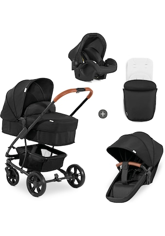 Hauck Kombi-Kinderwagen »Pacific 4 Shop N Drive, Caviar«, 22 kg, mit Babyschale kaufen