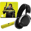 SteelSeries Gaming-Headset »Bundle Arctis 7 + QcK Large Cyberpunk Edition«