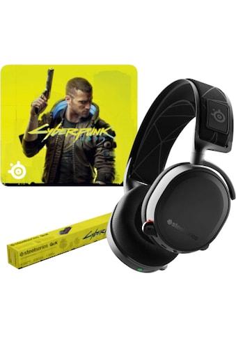 SteelSeries Gaming-Headset »Bundle Arctis 7 + QcK Large Cyberpunk Edition« kaufen