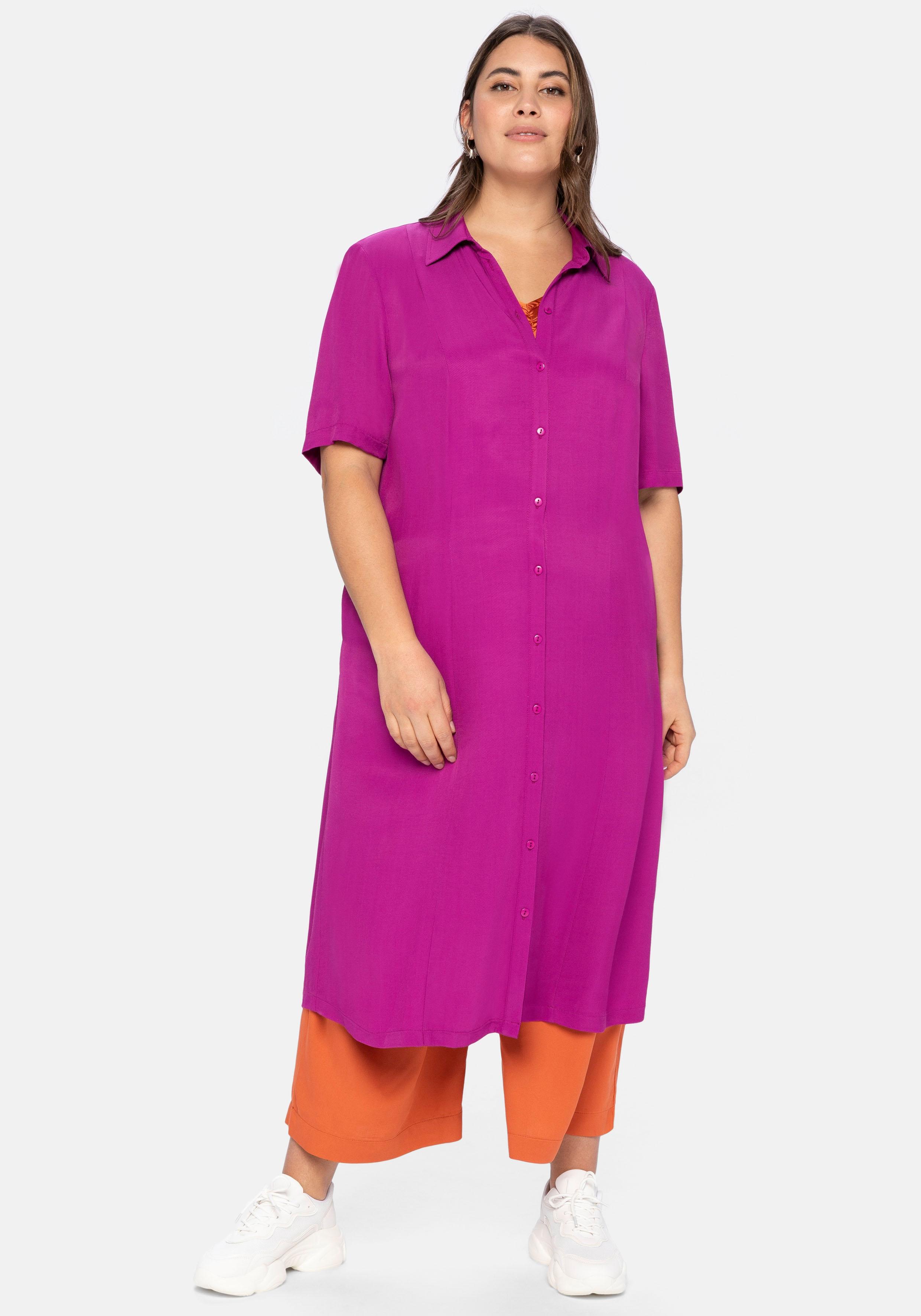 sheego -  Blusenkleid, mit Knopfleiste und Teilungsnähten