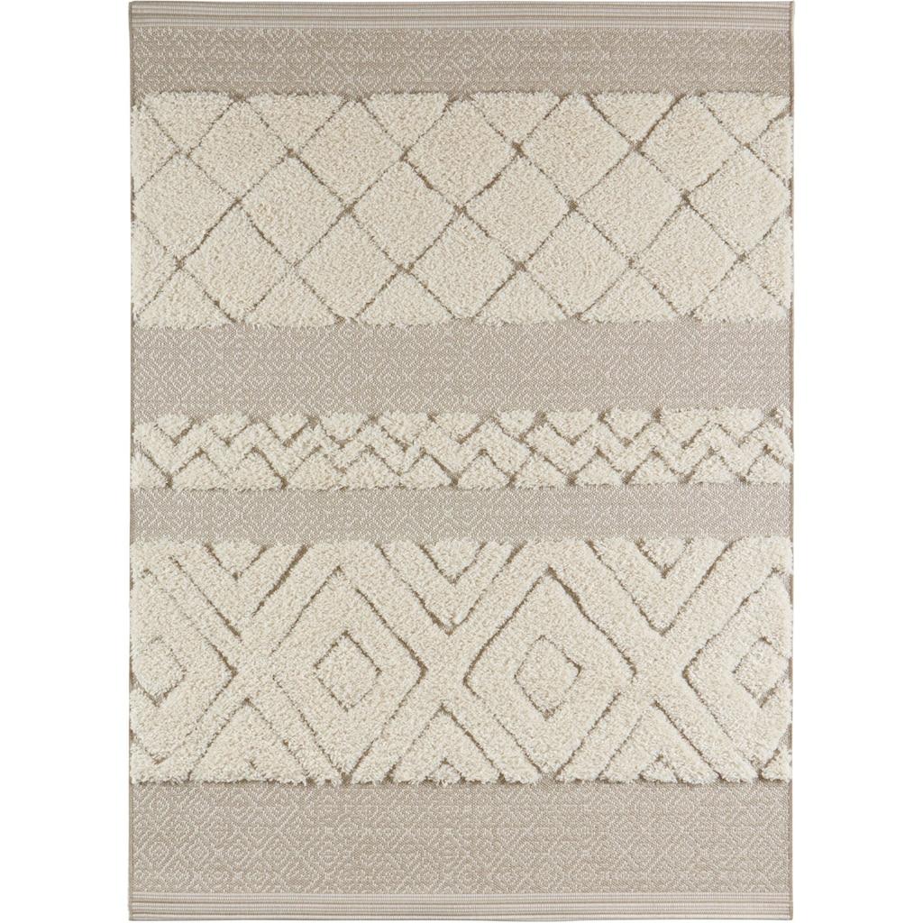 MINT RUGS Teppich »Todra«, rechteckig, 22 mm Höhe, Hoch-Tief-Struktur, Wohnzimmer