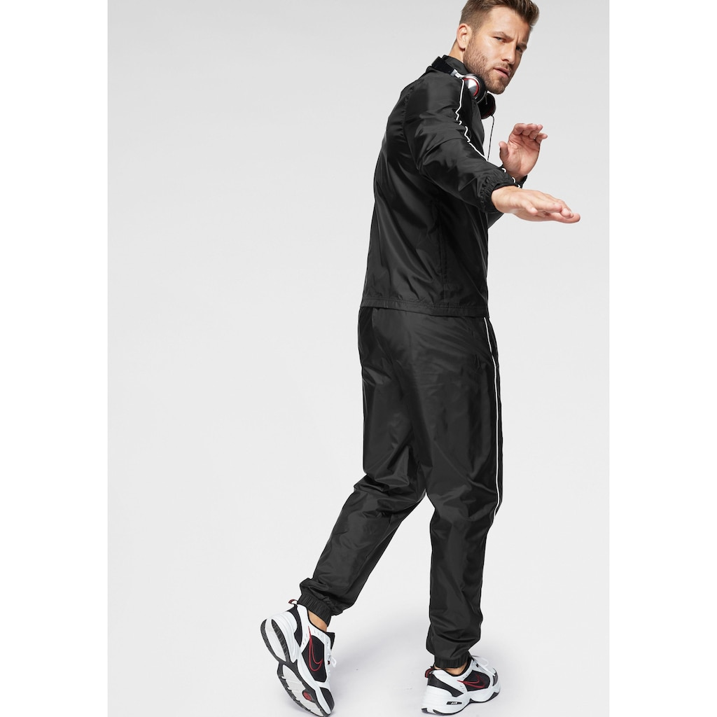 Nike Sportswear Trainingsanzug »M NSW CE TRK SUIT WVN BASIC«, (Set, 2 tlg.), Kontrastdetails