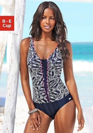 LASCANA Badeanzug »Match« mit Rüschenkante online kaufen   BAUR b12850e06f