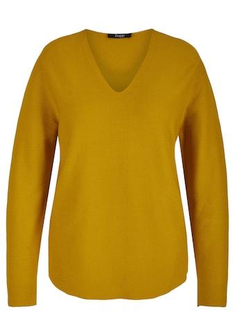 FRAPP V-Ausschnitt-Pullover, aus reiner Baumwolle mit V-Ausschnitt kaufen