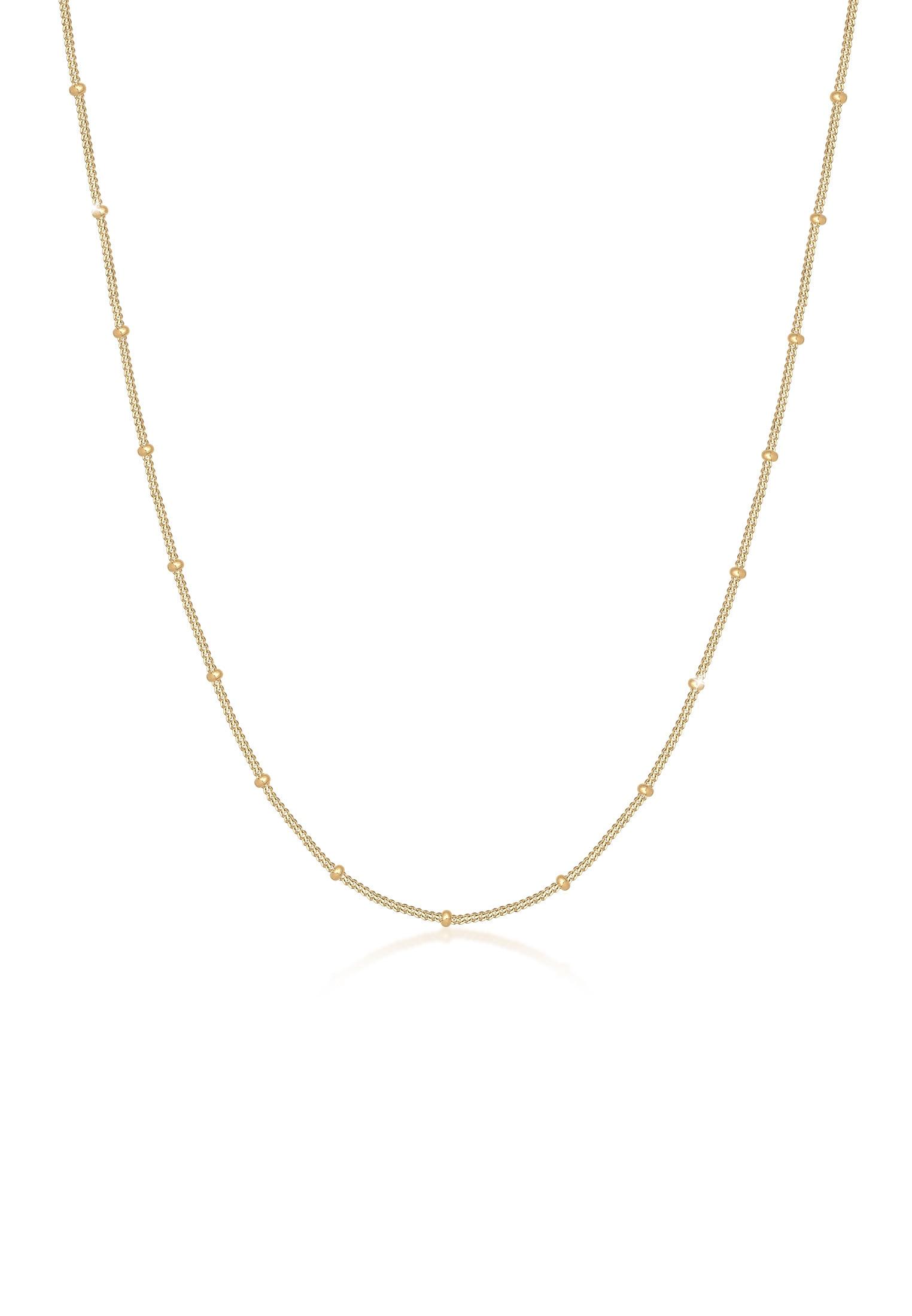 Elli Collierkettchen Kugelkette Silberkette Fein 925 Silber | Schmuck > Halsketten > Silberketten | Goldfarben | Elli