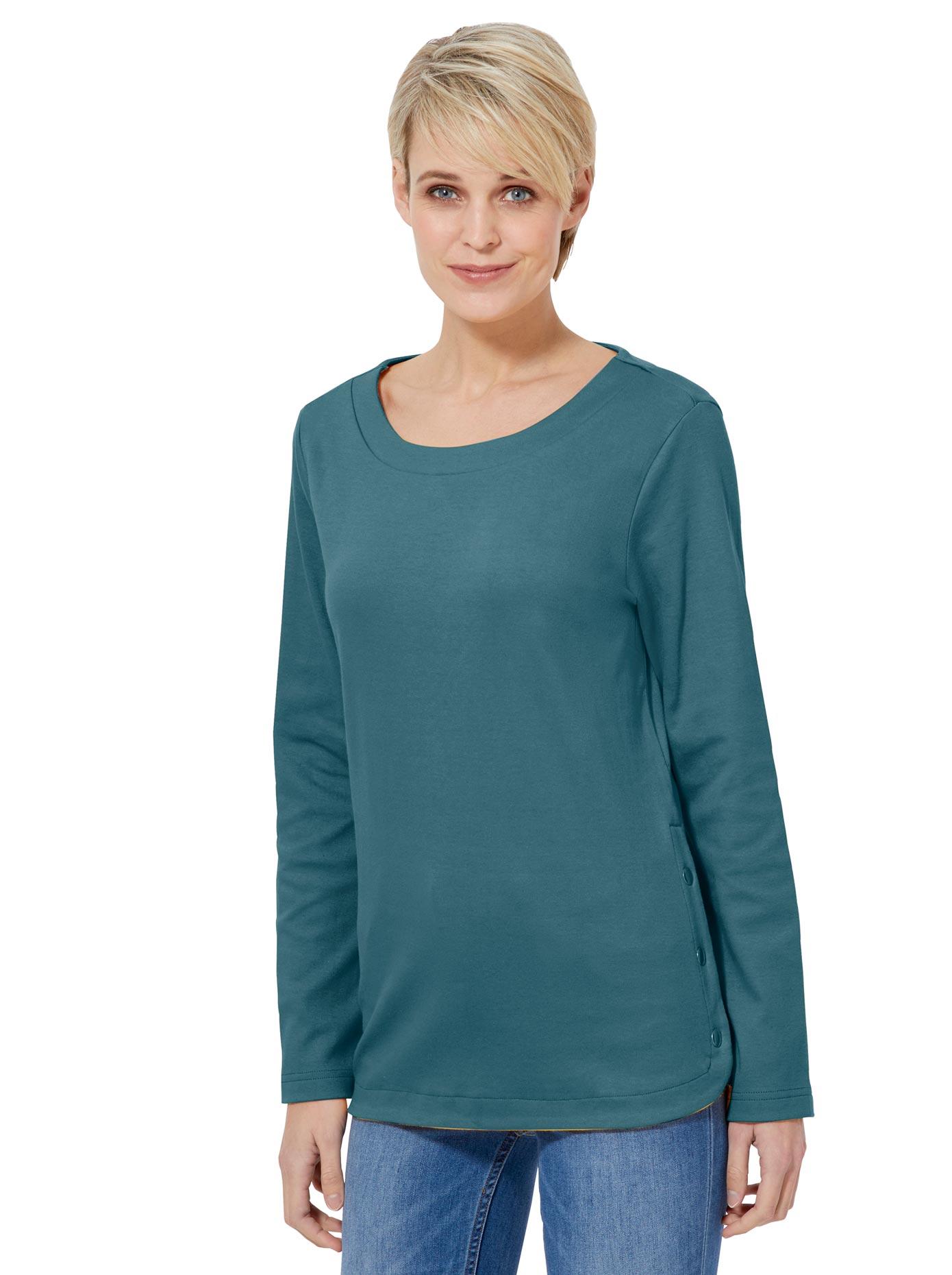 casual looks -  Shirt in hochwertiger, formstabiler Interlock-Qualität