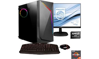 Hyrican »Onyx SET2030« Gaming - PC - Komplettsystem (AMD, Ryzen 3, Radeon RX 550) kaufen