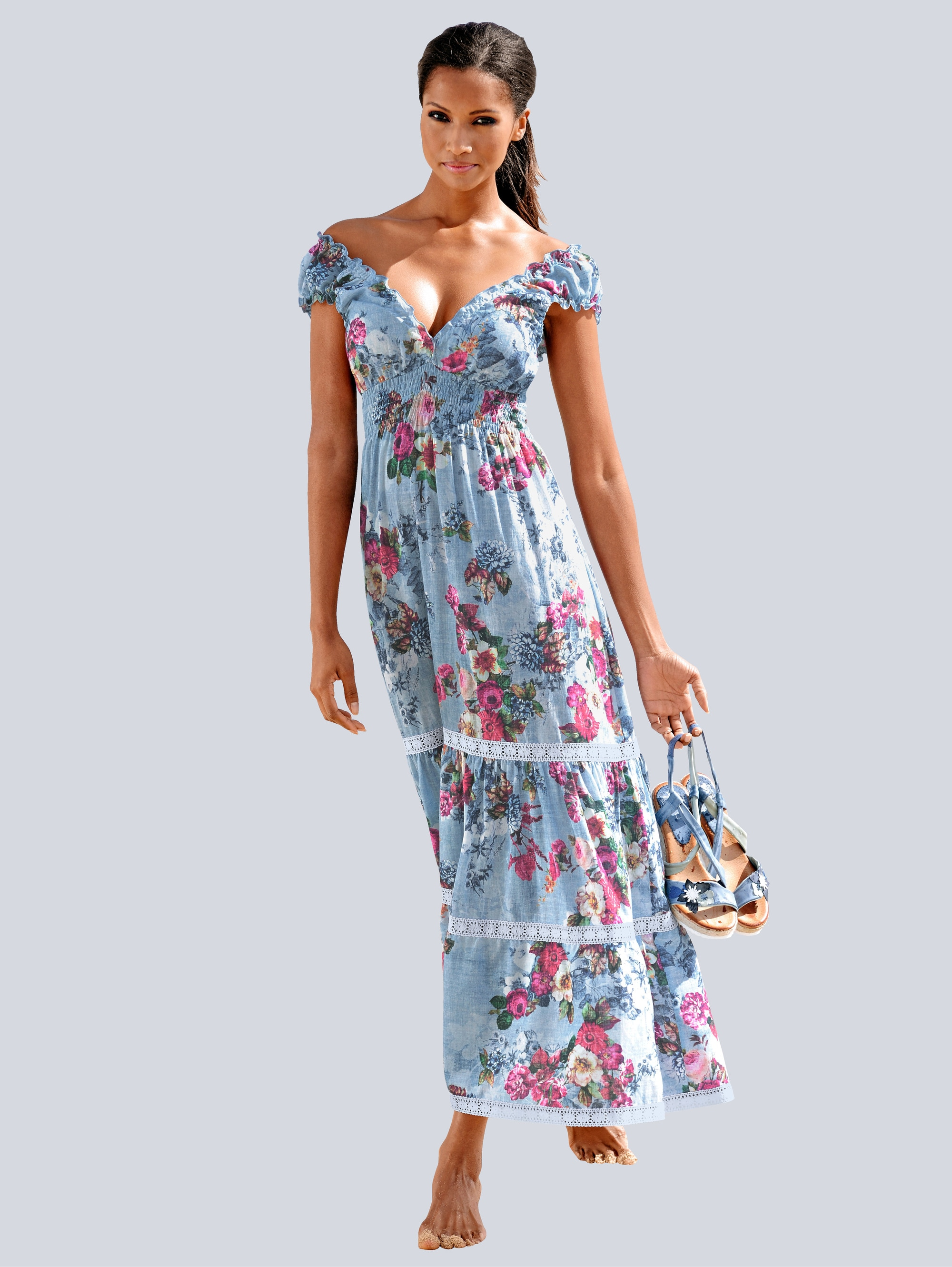 Alba Moda Strandkleid in Maxilänge