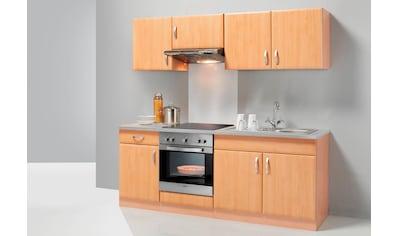 wiho Küchen Küchenzeile »Prag«, mit E-Geräten, Breite 210 cm kaufen