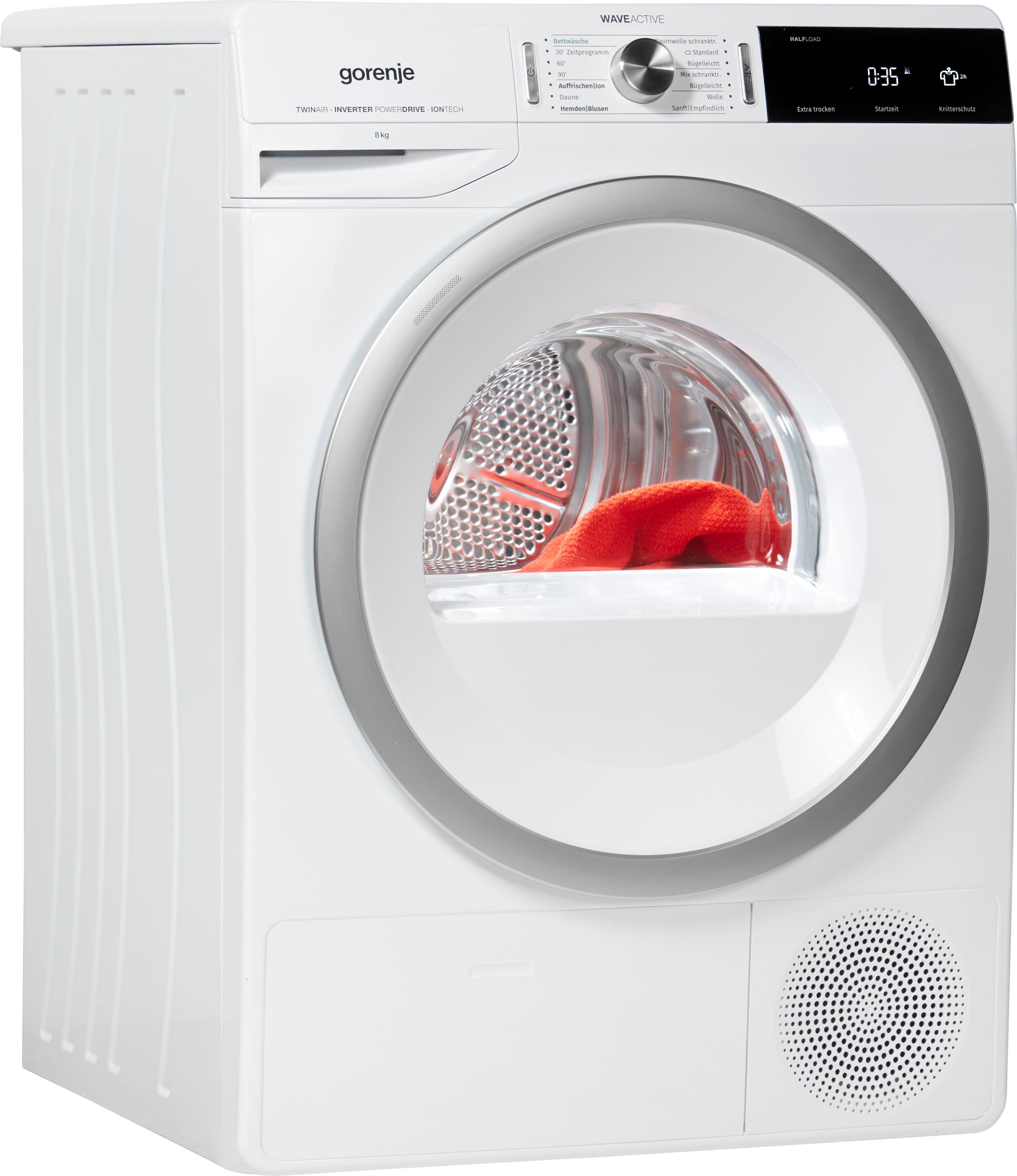 GORENJE Wärmepumpentrockner DA 83 IL/I 8 kg | Bad > Waschmaschinen und Trockner | Weiß | Gorenje