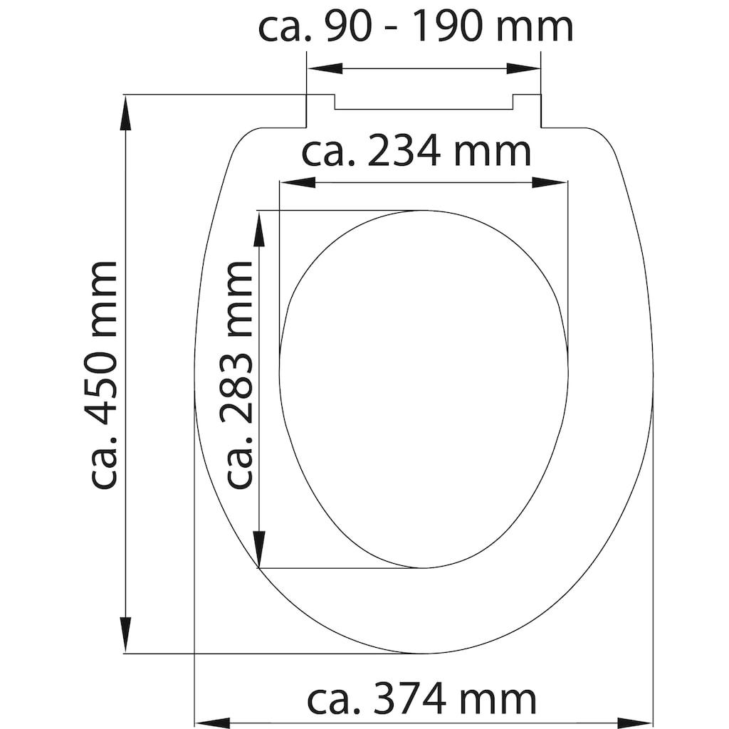 Schütte WC-Sitz »Raindrop«, aus Duroplast mit Absenkautomatik