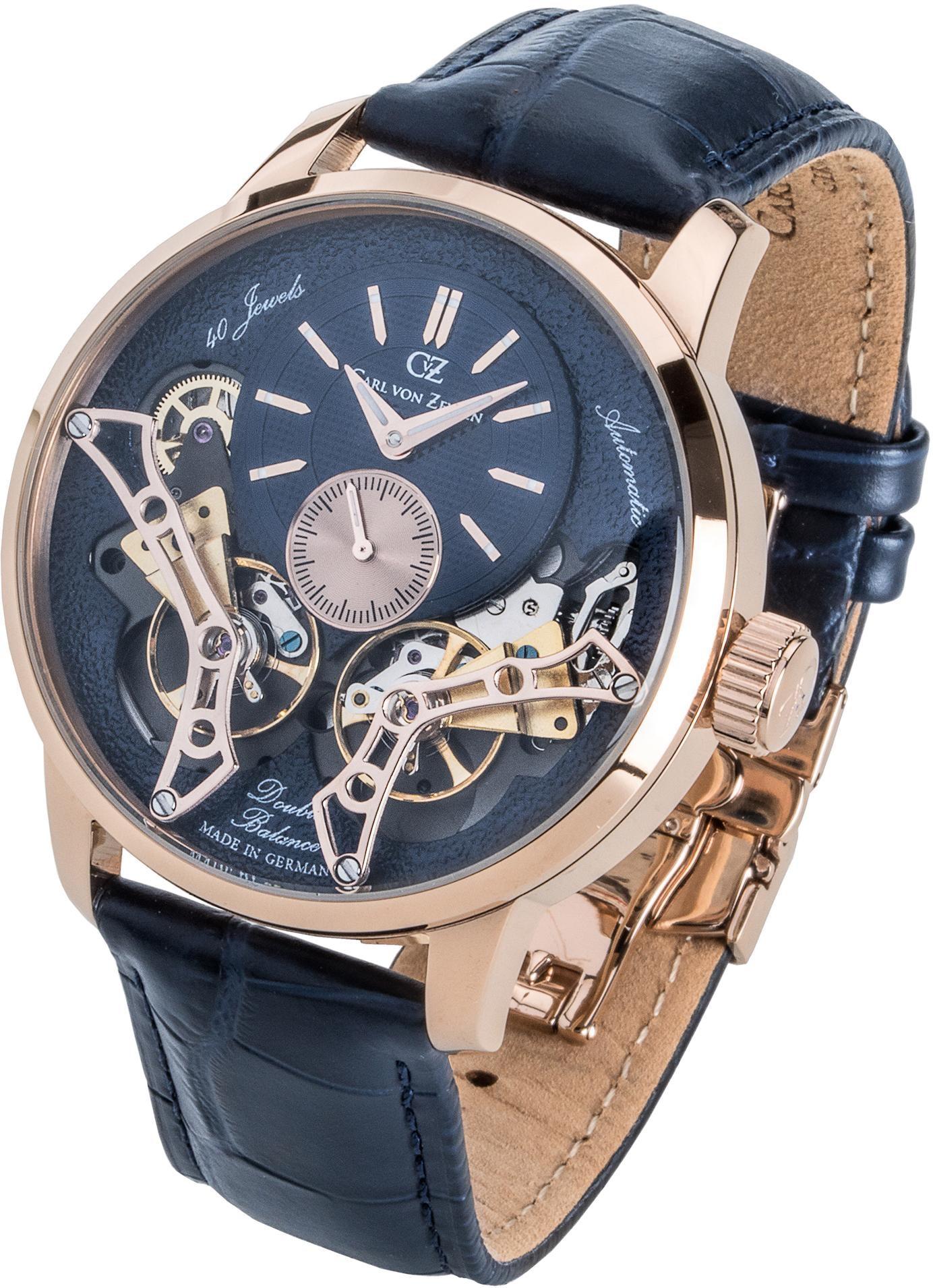 Carl von Zeyten Automatikuhr Oberkirch CVZ0064RBL | Uhren > Automatikuhren | Blau | Carl Von Zeyten