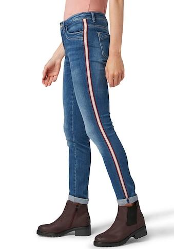 TOM TAILOR Röhrenjeans »Alexa slim«, mit coolem Galon-Streifen an der Seitennaht kaufen