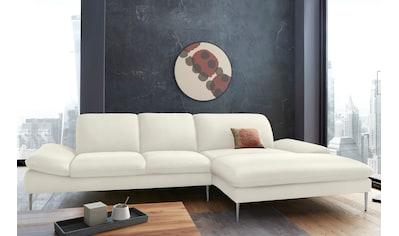 W.SCHILLIG Ecksofa »enjoy&MORE«, mit Sitztiefenverstellung, Füße Chrom glänzend,... kaufen