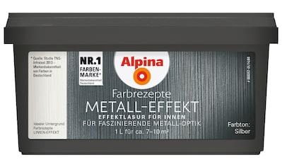 ALPINA Metallglanzfarbe »Farbrezepte  -  Metall - Effekt«, seidenglänzend, 1 l kaufen