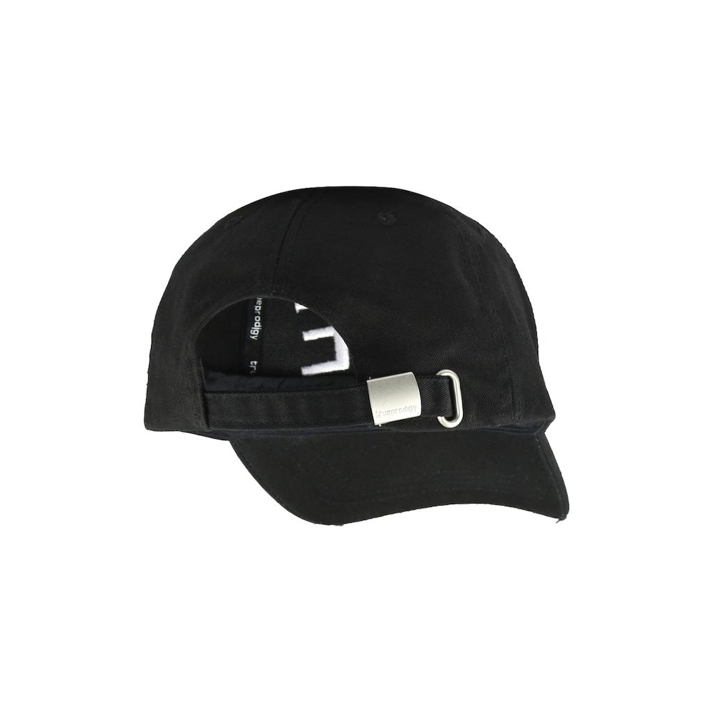 trueprodigy Baseball Cap »Dane black Cap«, mit Logostickerei und Destroy Effects