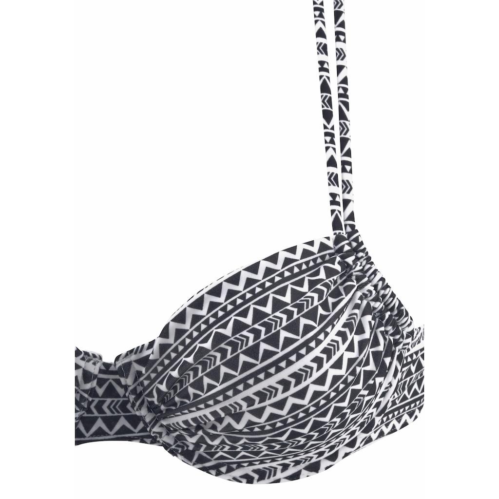 Venice Beach Bügel-Bikini-Top »Ethno«, mit Doppelträgern