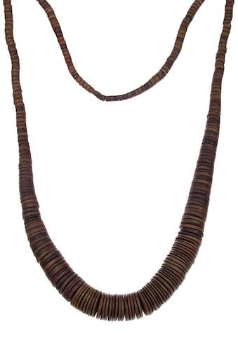 leslii Halskette aus Kokosholzscheiben kaufen