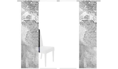 HOME WOHNIDEEN Schiebegardine »WALLONA 4ER SET«, HxB: 245x60 kaufen