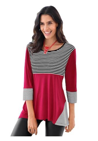 Classic Inspirationen Longshirt mit Streifeneinsätzen kaufen
