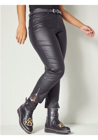 Angel of Style by Happy Size Hose in Lederimitatoptik kaufen