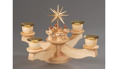 Albin Preissler Adventsleuchter »Kerzenleuchter mit Engelsfiguren«, Handwerkskunst aus... kaufen