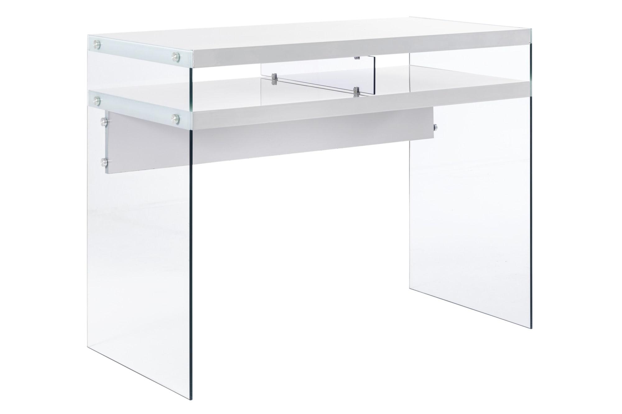 heine home Schreibtisch mit Seitenteilen aus Glas | 04897056398764
