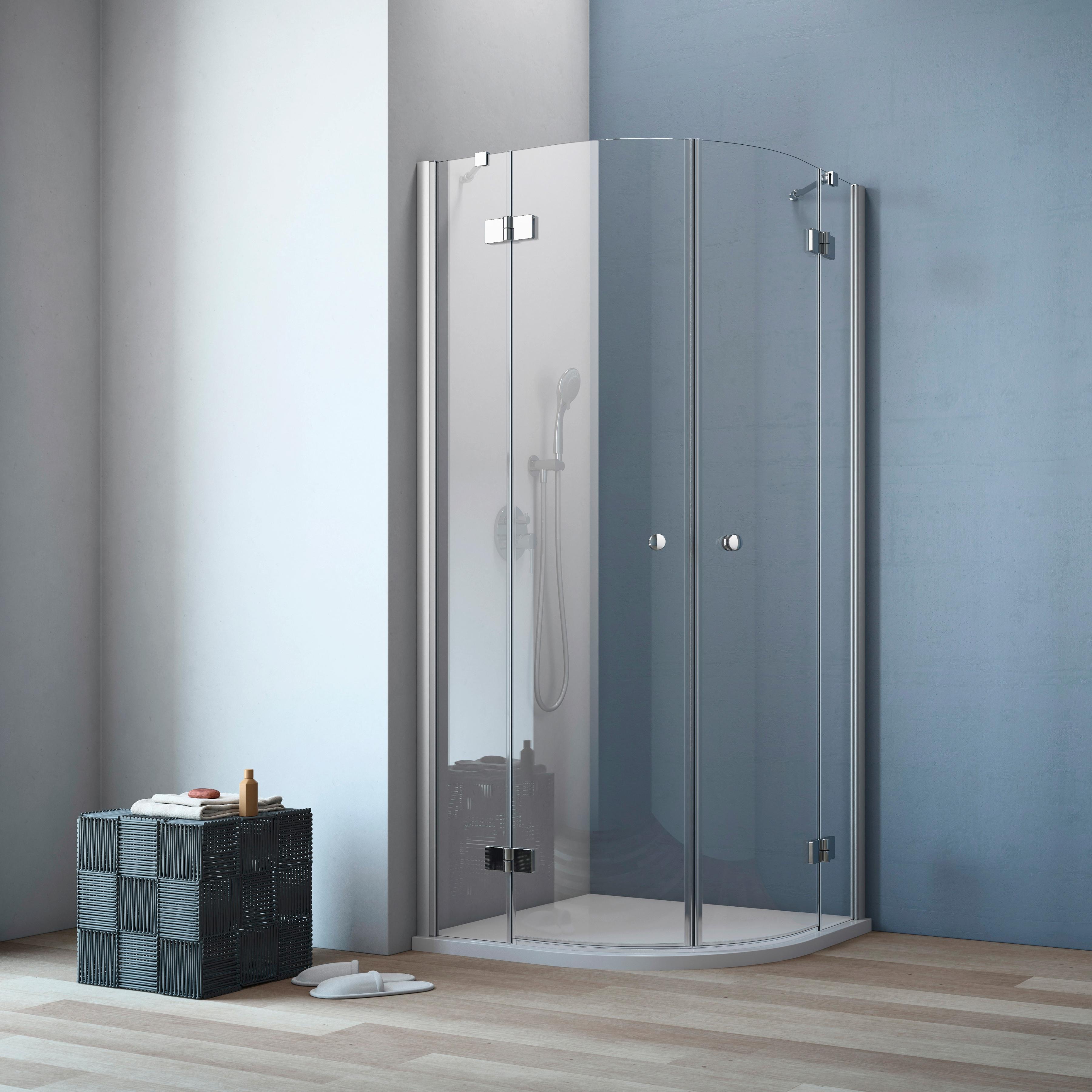 maw Runddusche A-R300, ebenerdiger Einbau möglich silberfarben Duschkabinen Duschen Bad Sanitär Eckdusche
