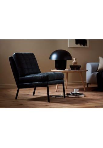 LOVI Sessel »Chilli«, Fußgestell schwarz, leichte, schwebende Optik in klaren Formen mit weichen gesteppten Kissen kaufen