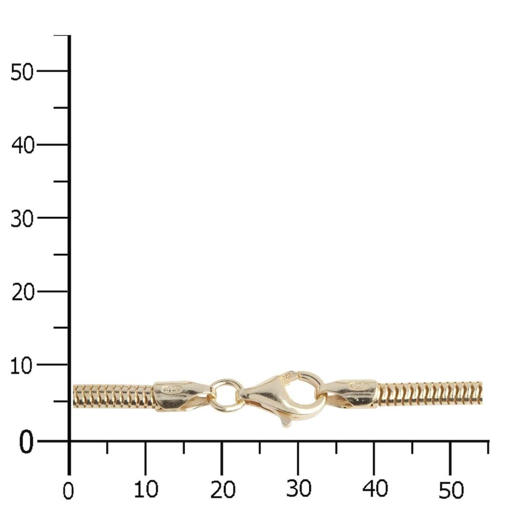 OSTSEE-SCHMUCK Silberkette »- Schlange vergoldet 3,0 mm - Silber 925/000 -,«, (1 tlg.)