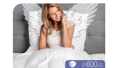 Schlafstil Gänsedaunenbettdecke »D600«, extraleicht, Füllung 100% Gänsedaunen, Bezug 100% Baumwolle, (1 St.), hergestellt in Deutschland, allergikerfreundlich kaufen