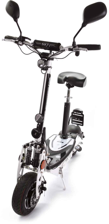 SXT Scooters E-Scooter 500 EEC - Facelift, 20 km/h, 25 km weiß Elektroscooter Elektroroller Motorroller Mofas