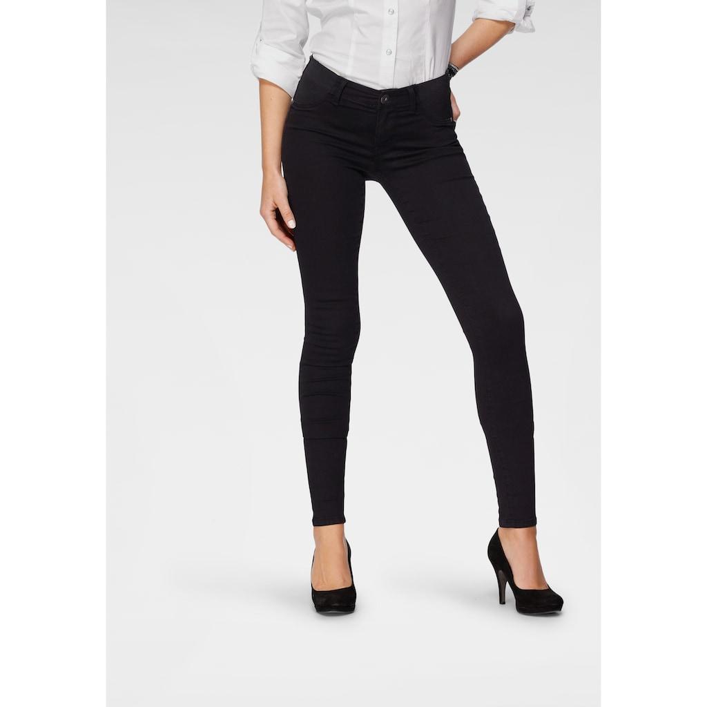 Arizona Skinny-fit-Jeans »Ultra Stretch«, Low Waist mit seitlichen Stretch-Einsätzen am Bund