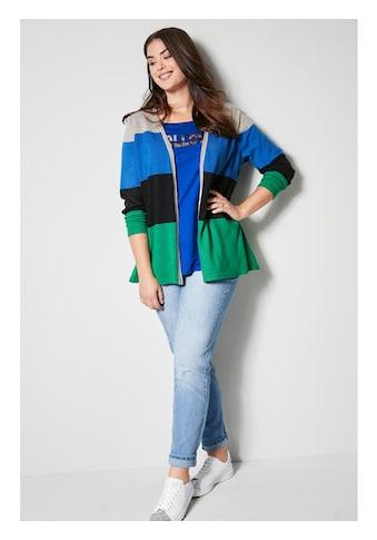 Angel of Style by HAPPYsize Strickjacke mit Colorblocking kaufen