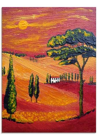 Artland Glasbild »Irgendwo in der Toskana/Toscana«, Sonnenaufgang & -untergang, (1 St.) kaufen