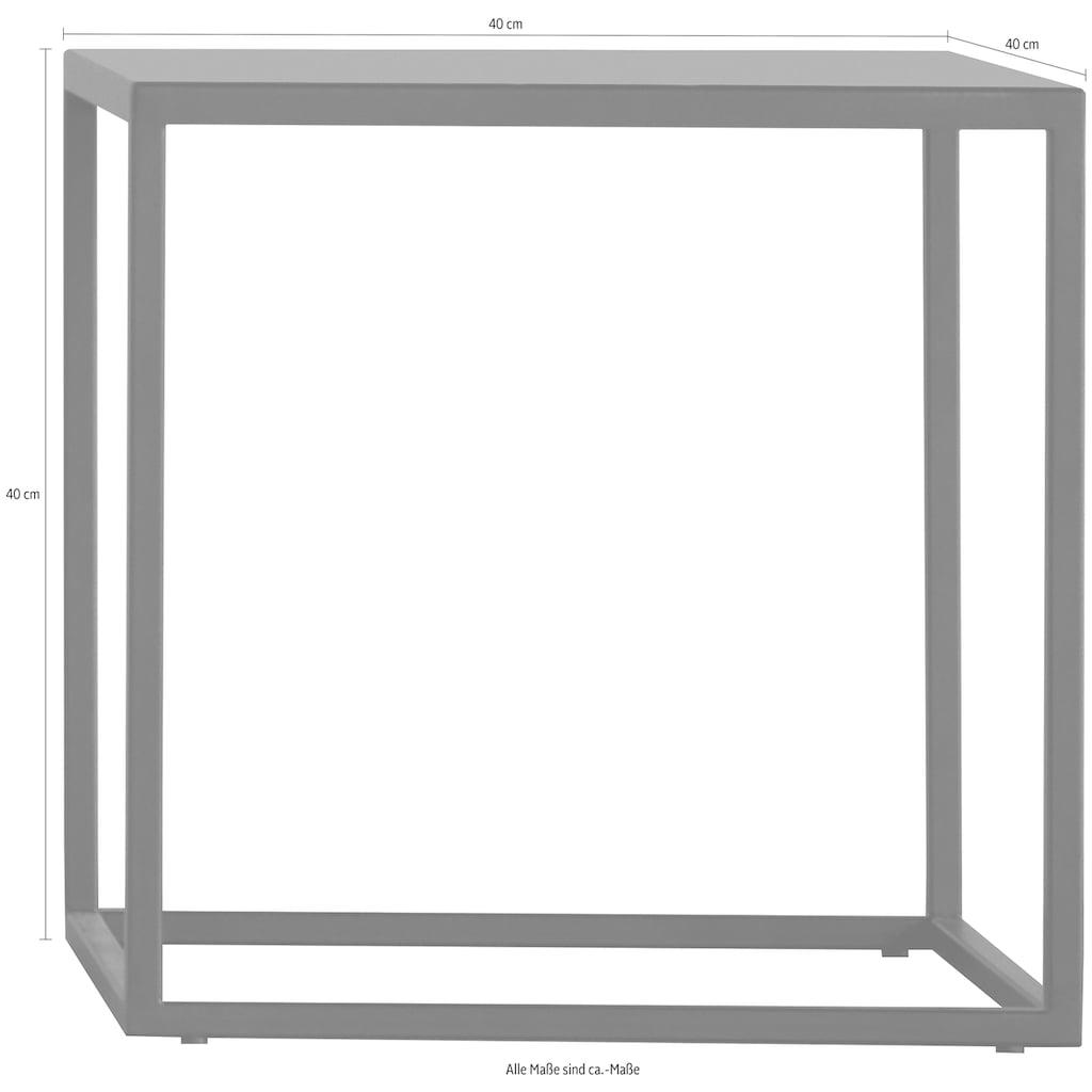 jankurtz Beistelltisch »pio«, quadratisch, komplett aus Metall