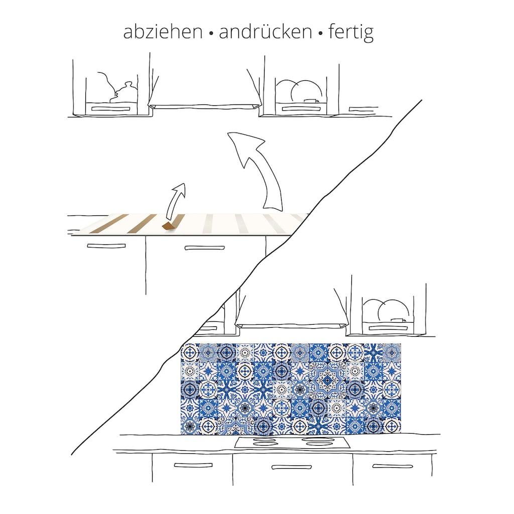 Artland Küchenrückwand »Braune alte Ziegelmauer«
