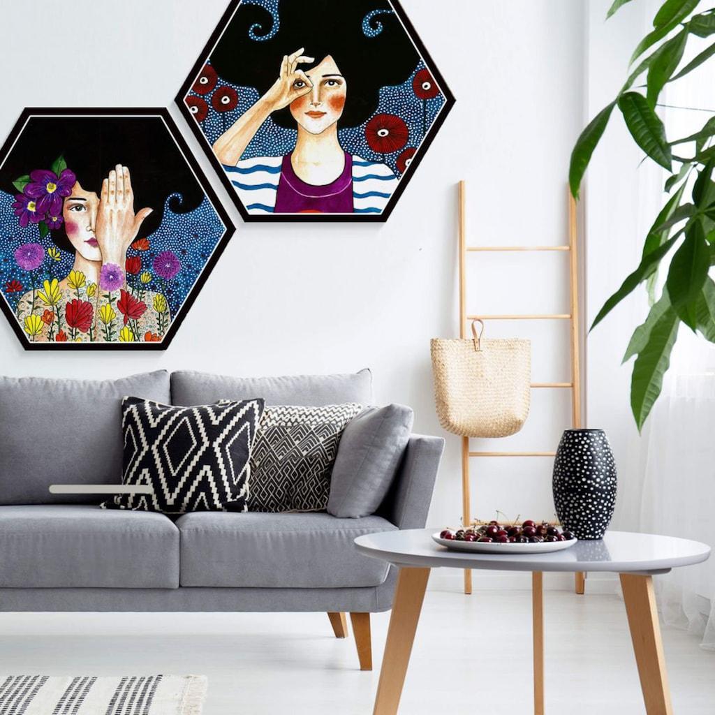 Wall-Art Mehrteilige Bilder »Hülya Augenblicke Set«, (Set, 3 St.)