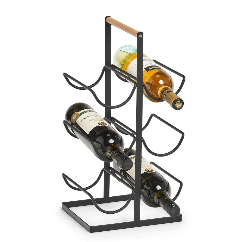Zeller Present Weinregal, Metall, für 6 Flaschen