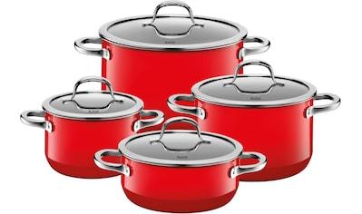 Silit Topf-Set »Passion Red«, Silargan®, (Set, 8 tlg.), Silargan, Induktion, Glasdeckel kaufen