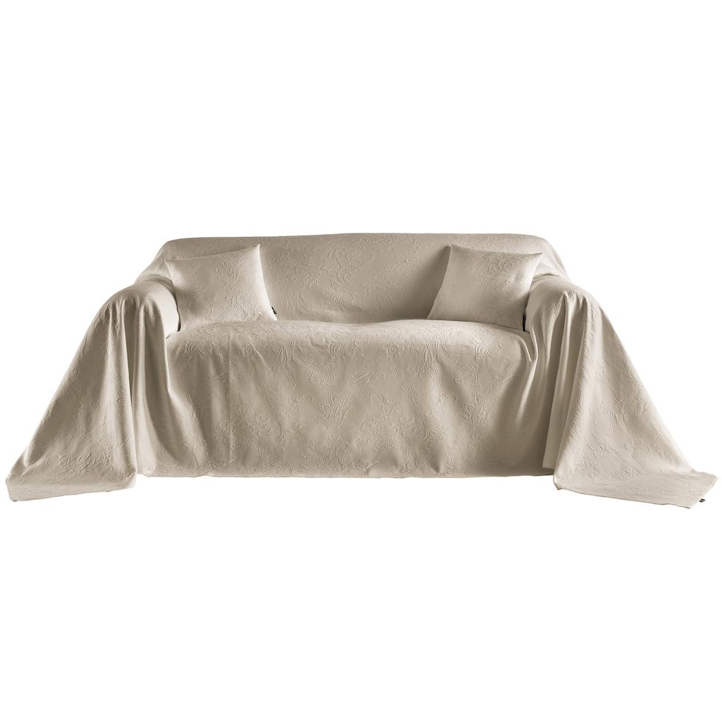 Sofaüberwurf in Hoch-/Tiefstruktur