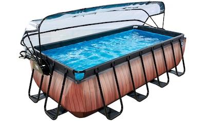 EXIT Framepool BxLxH: 200x400x100 cm, mit Sonnendach kaufen