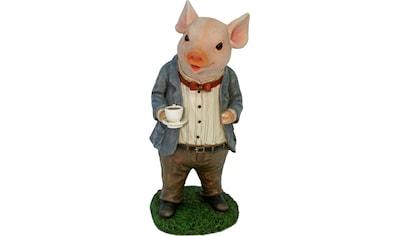 Home affaire Tierfigur »Schwein im Anzug trinkt Kaffee« kaufen