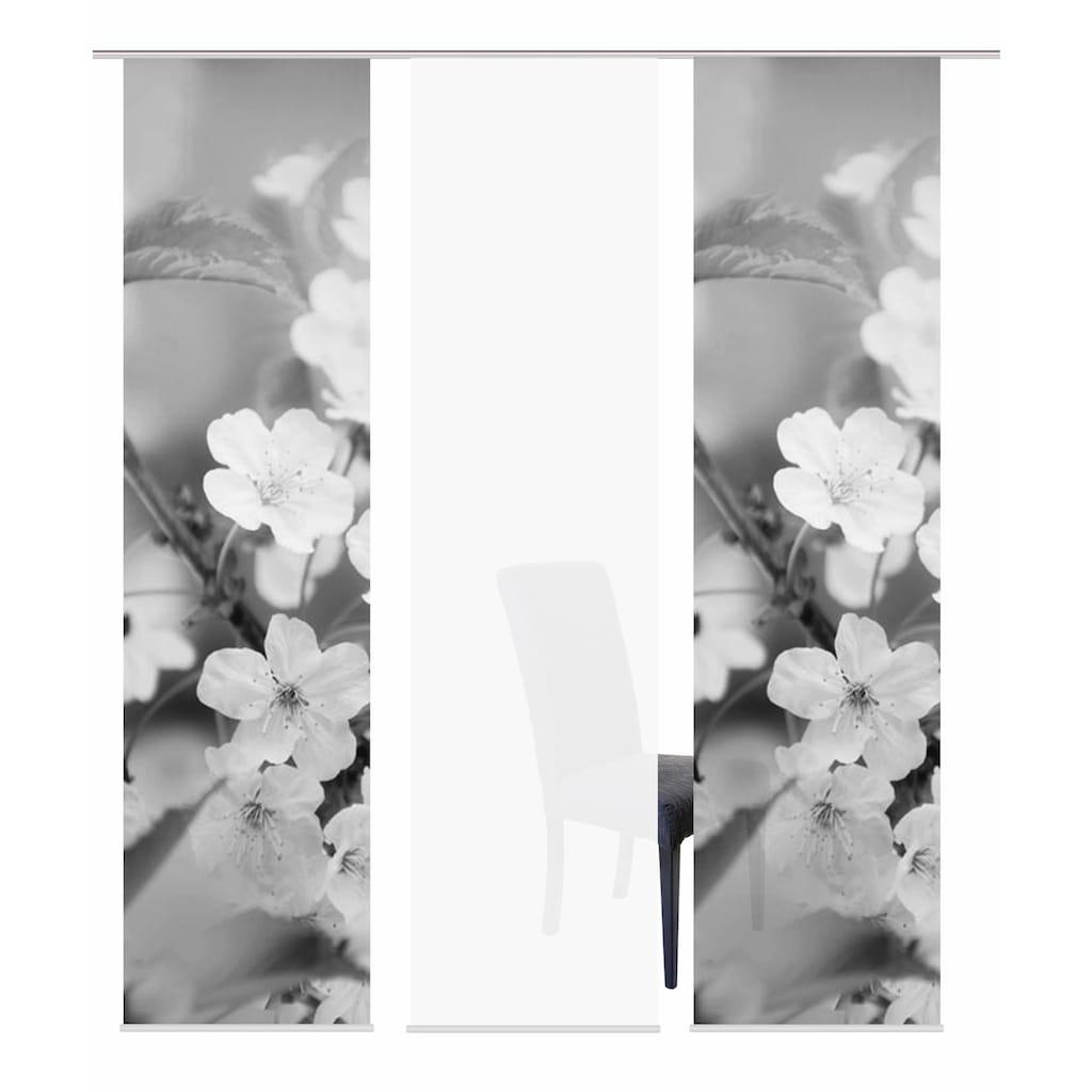 HOME WOHNIDEEN Schiebegardine »3ER SET NILA«, HxB: 245x60, Schiebevorhang 3er Set Digitaldruck
