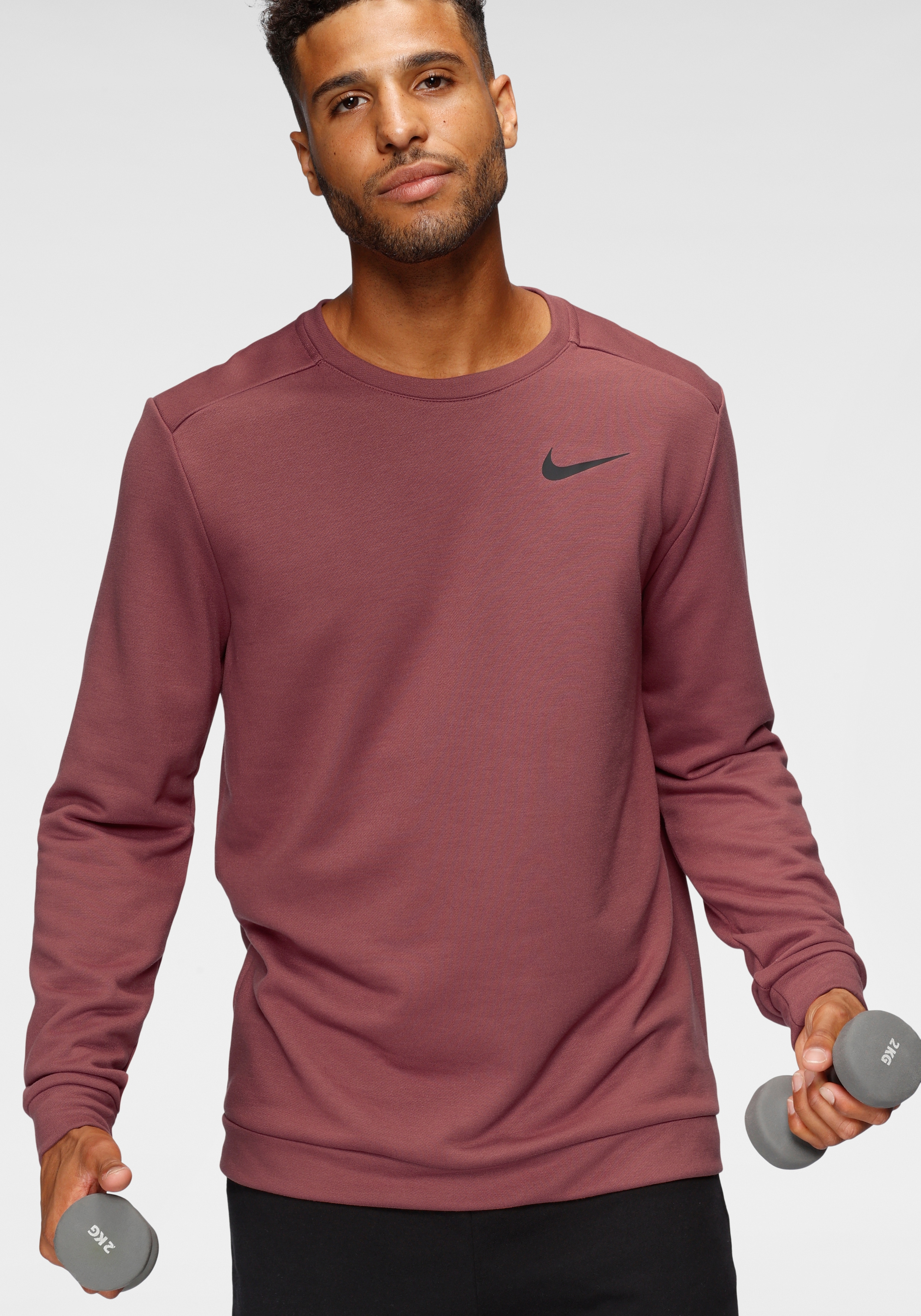 Nike Sweatshirt Men's Fleece Training Crew rot Herren Sweatshirts -jacken