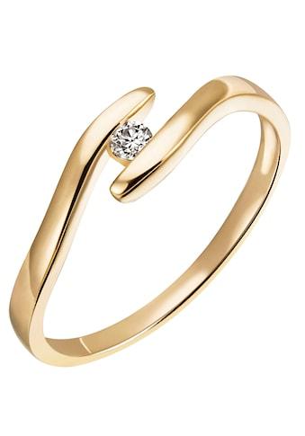 Firetti Diamantring »Verlobung, modern, ca. 1,90 mm breit, Glanz, massiv«, mit Brillant kaufen